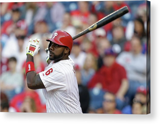 Citizens Bank Park Acrylic Print featuring the photograph Ryan Howard by Chris Gardner