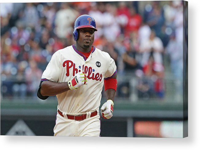 Three Quarter Length Acrylic Print featuring the photograph Ryan Howard by Hunter Martin