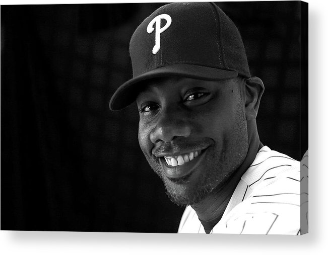 Media Day Acrylic Print featuring the photograph Ryan Howard by Mike Ehrmann