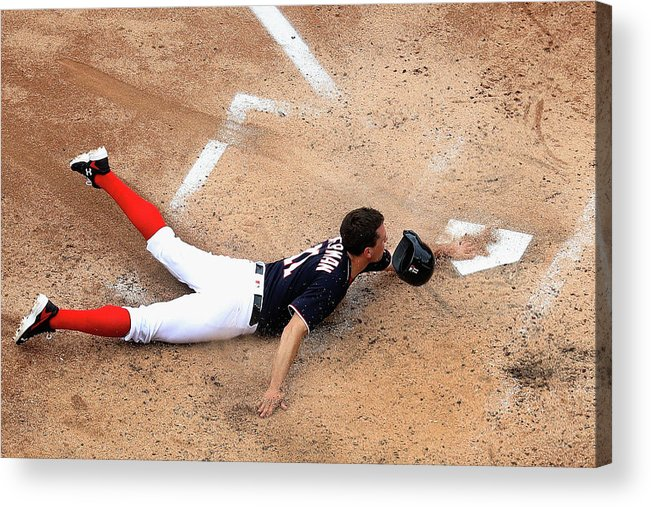 Ryan Zimmerman - Baseball Player Acrylic Print featuring the photograph Ryan Zimmerman by Rob Carr