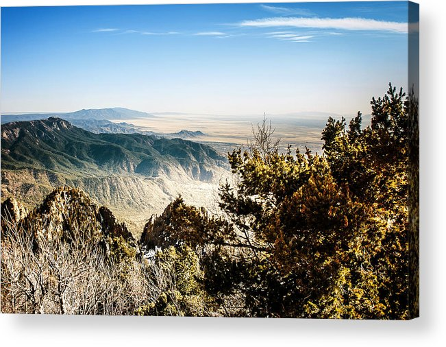 On Top Of The World Acrylic Print featuring the photograph Sandia Mountains - View from the Sandia Crest by Ivanastar