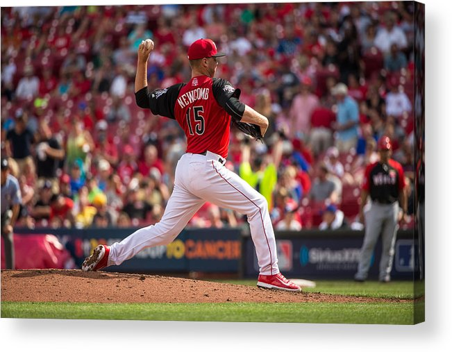 Great American Ball Park Acrylic Print featuring the photograph Sean Newcomb by Brace Hemmelgarn