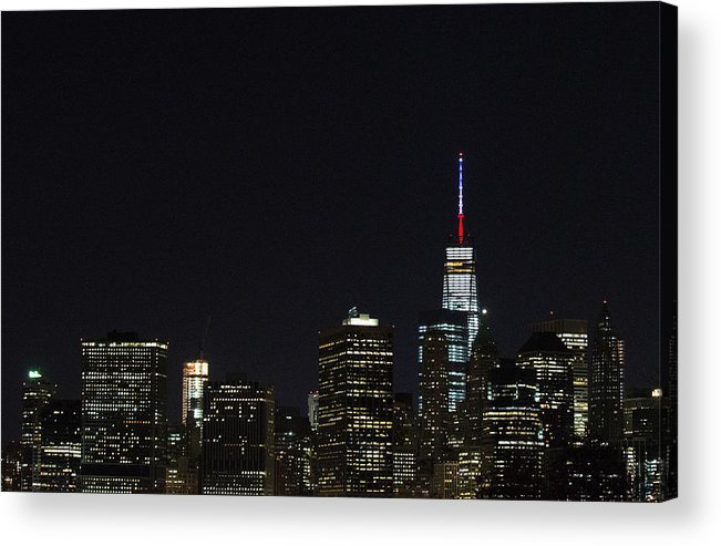 November 2015 Paris Attacks Acrylic Print featuring the photograph Security Increased In New York City After Attacks In Paris by Daniel Pierce Wright