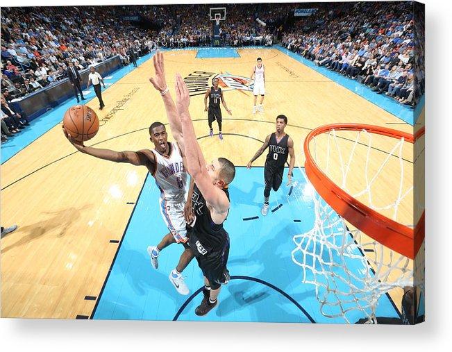 Nba Pro Basketball Acrylic Print featuring the photograph Semaj Christon by Joe Murphy