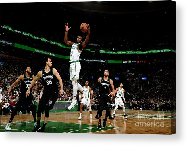 Nba Pro Basketball Acrylic Print featuring the photograph Semi Ojeleye by Brian Babineau