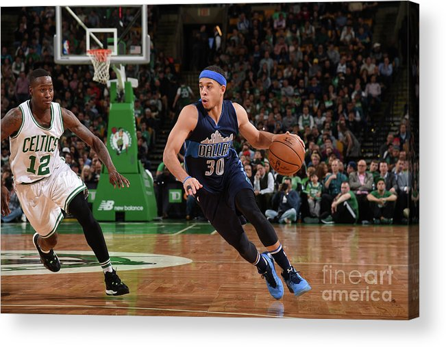 Nba Pro Basketball Acrylic Print featuring the photograph Seth Curry by Brian Babineau