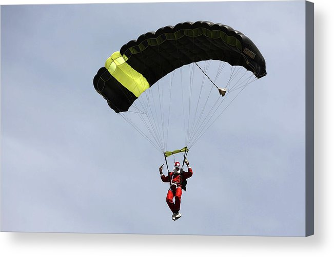 Internet Acrylic Print featuring the photograph Skydiving Santas Launch New Experiences Website by Brendon Thorne