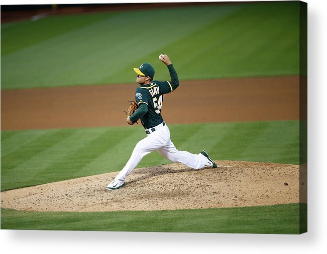 Sonny Gray Acrylic Print featuring the photograph Sonny Gray by Michael Zagaris