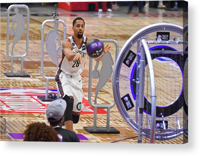 Nba Pro Basketball Acrylic Print featuring the photograph Spencer Dinwiddie by Bill Baptist