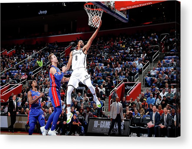 Nba Pro Basketball Acrylic Print featuring the photograph Spencer Dinwiddie by Brian Sevald