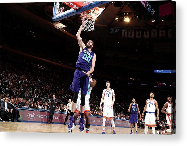 Nba Pro Basketball Acrylic Print featuring the photograph Spencer Hawes by Nathaniel S. Butler