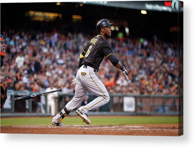 San Francisco Acrylic Print featuring the photograph Starling Marte by Ezra Shaw