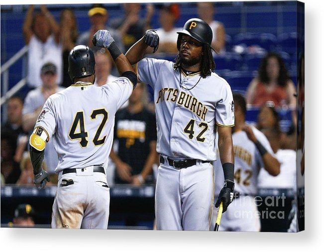 Three Quarter Length Acrylic Print featuring the photograph Starling Marte by Michael Reaves