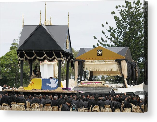 Royalty Acrylic Print featuring the photograph State Funeral For King Taufa'ahau Tupou IV of Tonga by Sandra Mu