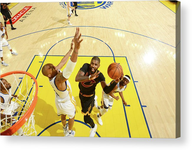Playoffs Acrylic Print featuring the photograph Stephen Curry and Kyrie Irving by Jesse D. Garrabrant