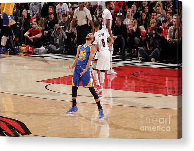 Playoffs Acrylic Print featuring the photograph Stephen Curry by Cameron Browne