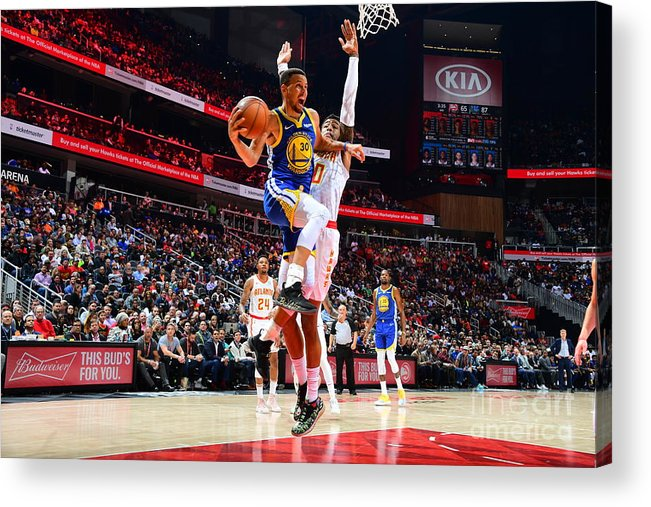 Atlanta Acrylic Print featuring the photograph Stephen Curry by Scott Cunningham