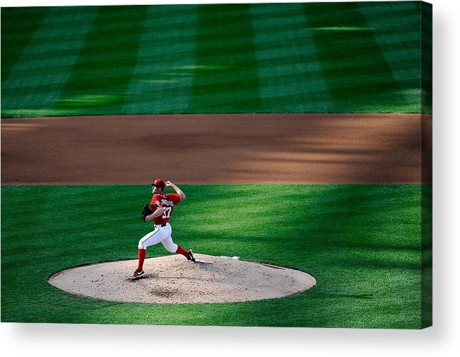 American League Baseball Acrylic Print featuring the photograph Stephen Strasburg by Patrick Mcdermott