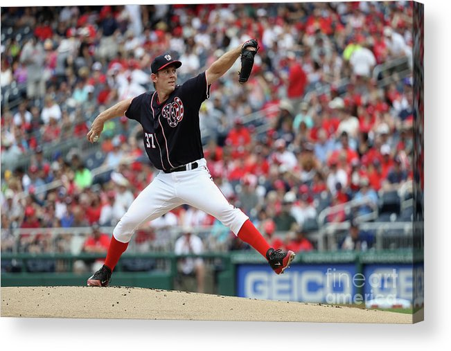 People Acrylic Print featuring the photograph Stephen Strasburg by Rob Carr