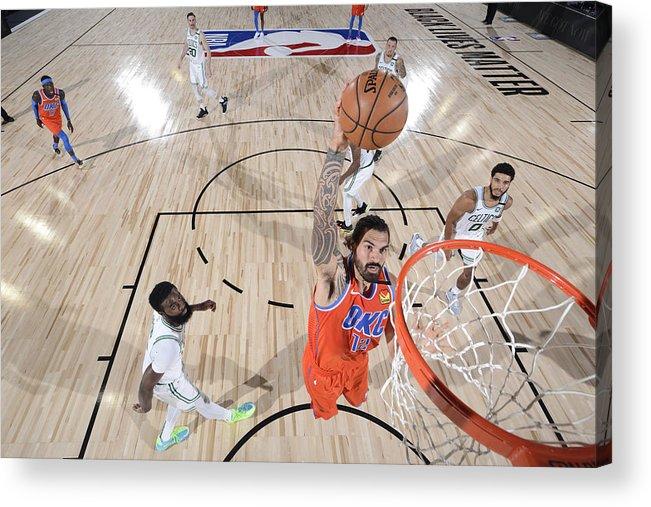 Nba Pro Basketball Acrylic Print featuring the photograph Steven Adams by Garrett Ellwood