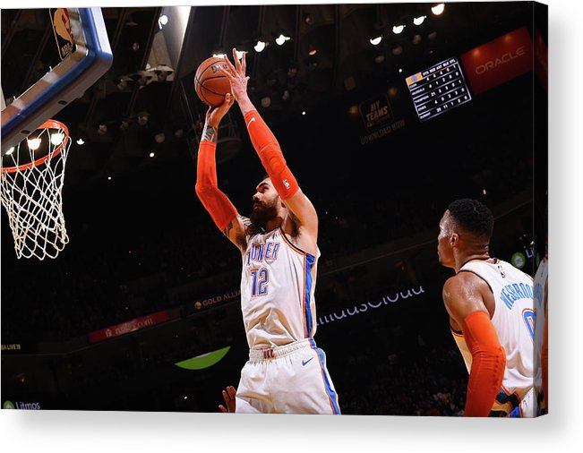 Nba Pro Basketball Acrylic Print featuring the photograph Steven Adams by Noah Graham