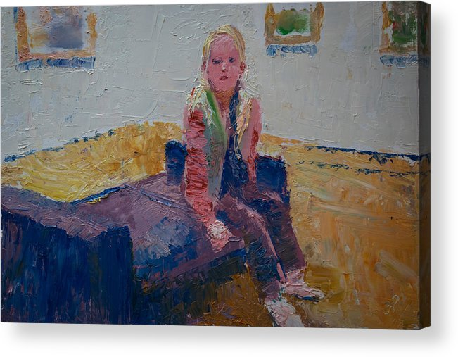 Oil Acrylic Print featuring the painting Taking a break by Horacio Prada