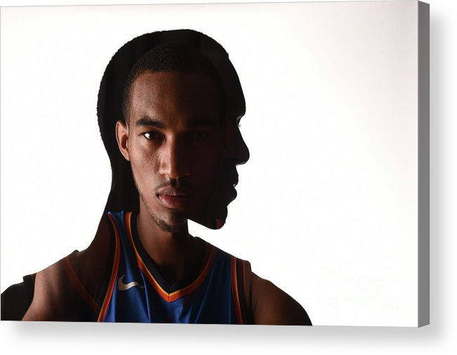 Nba Pro Basketball Acrylic Print featuring the photograph Terrance Ferguson by Brian Babineau