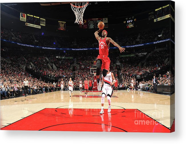 Nba Pro Basketball Acrylic Print featuring the photograph Terrence Ross by Cameron Browne