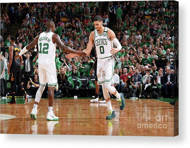 Playoffs Acrylic Print featuring the photograph Terry Rozier and Jayson Tatum by Brian Babineau