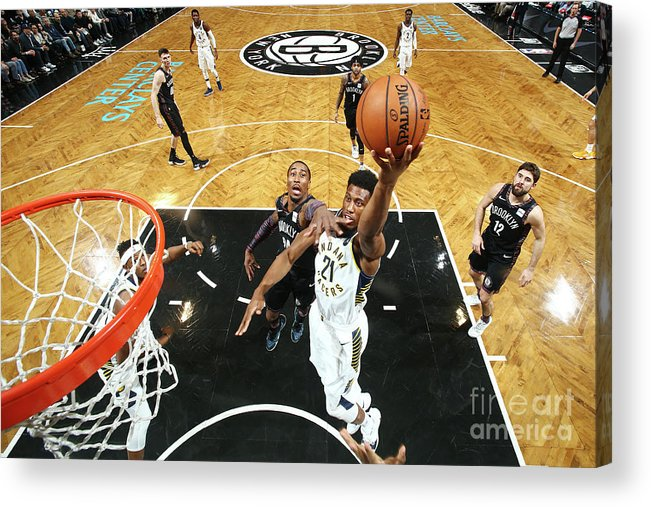 Nba Pro Basketball Acrylic Print featuring the photograph Thaddeus Young by Nathaniel S. Butler