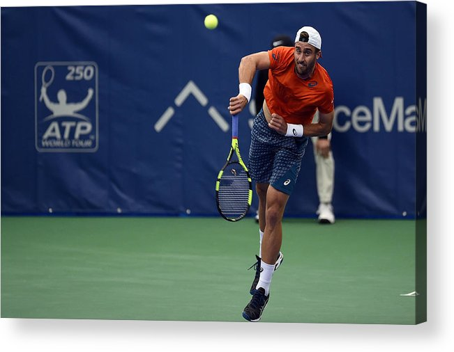 Tennis Acrylic Print featuring the photograph The Memphis Open - Day 4 by Stacy Revere