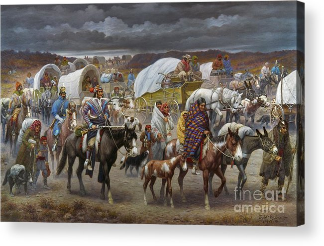 1838 Acrylic Print featuring the painting The Trail Of Tears by Granger