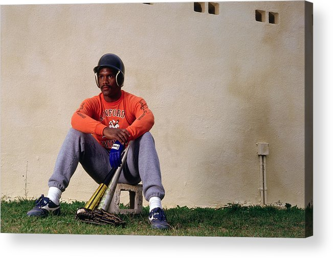 1980-1989 Acrylic Print featuring the photograph Tim Raines by Ronald C. Modra/sports Imagery