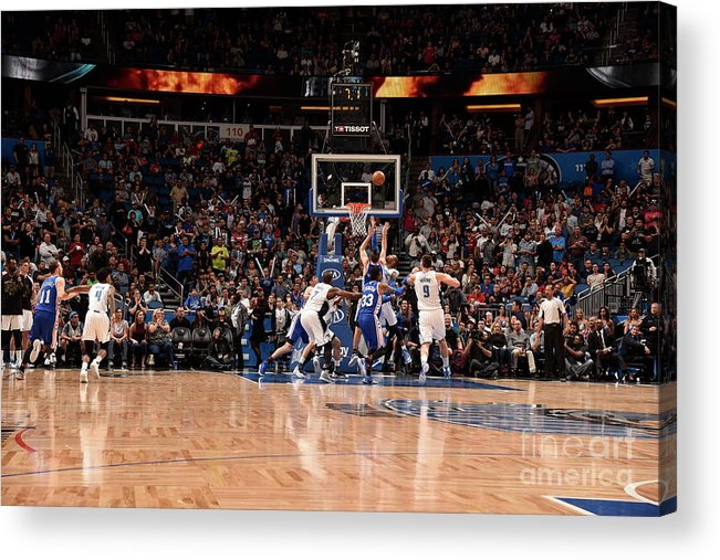 Nba Pro Basketball Acrylic Print featuring the photograph T.j. Mcconnell by Gary Bassing