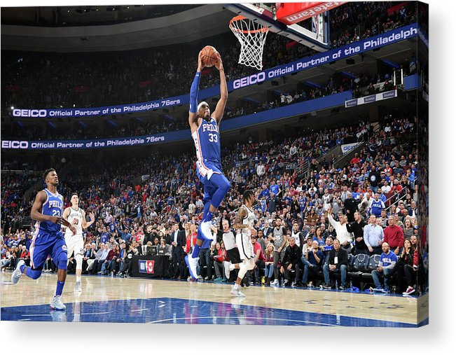 Playoffs Acrylic Print featuring the photograph Tobias Harris by Jesse D. Garrabrant