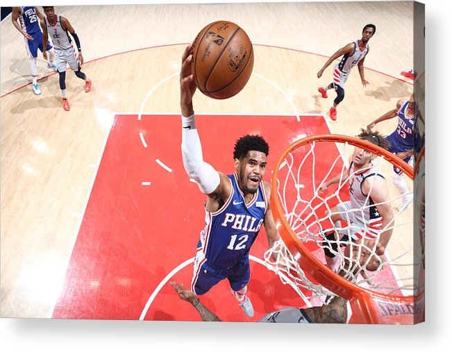 Playoffs Acrylic Print featuring the photograph Tobias Harris by Ned Dishman