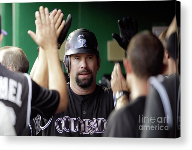 People Acrylic Print featuring the photograph Todd Helton by Rob Carr