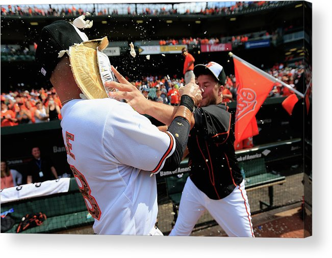 Following Acrylic Print featuring the photograph Tommy Hunter and Steve Pearce by Rob Carr