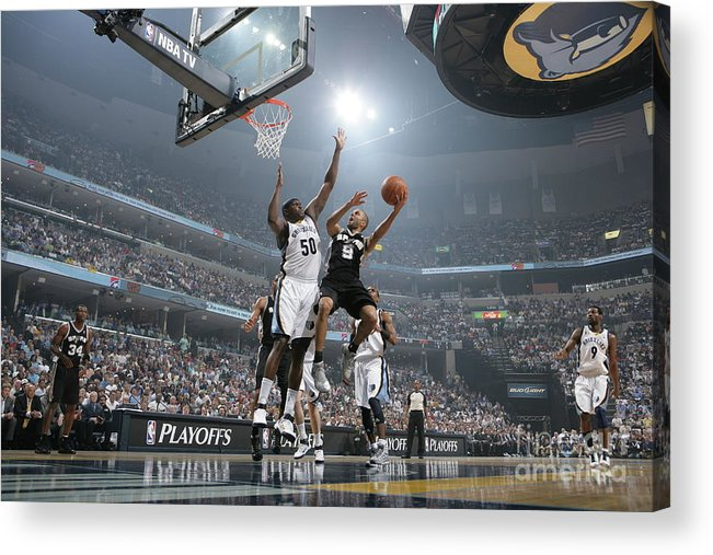 Playoffs Acrylic Print featuring the photograph Tony Parker by Joe Murphy