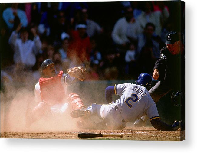 American League Baseball Acrylic Print featuring the photograph Tony Pena by Ronald C. Modra/sports Imagery