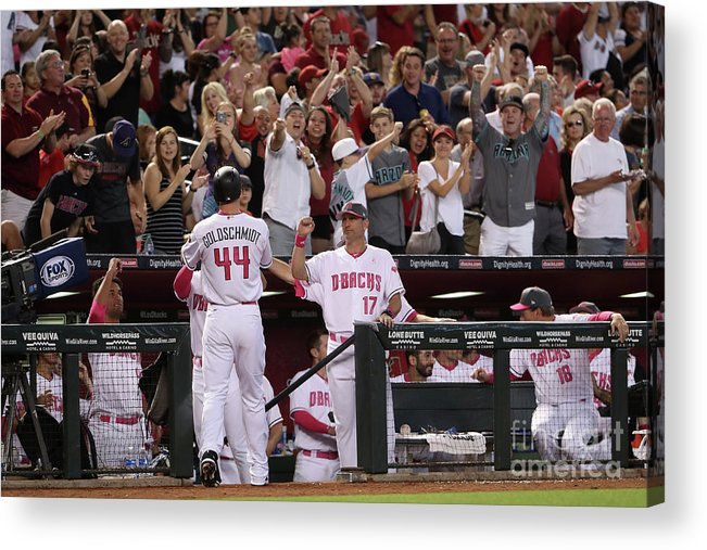 Mother's Day Acrylic Print featuring the photograph Torey Lovullo and Paul Goldschmidt by Christian Petersen
