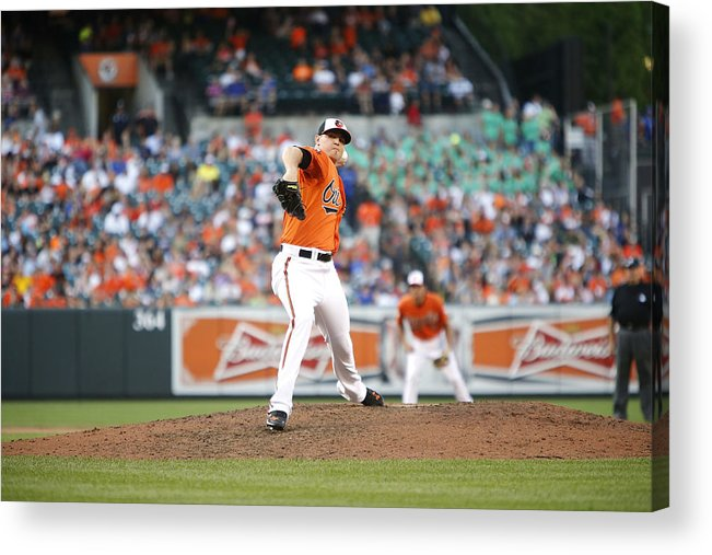 Ninth Inning Acrylic Print featuring the photograph Toronto Blue Jays v Baltimore Orioles by Jonathan Ernst