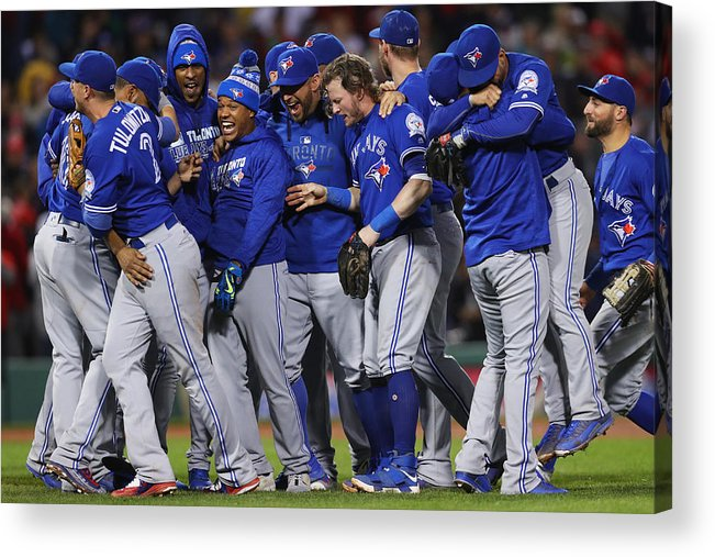 Playoffs Acrylic Print featuring the photograph Toronto Blue Jays v Boston Red Sox by Maddie Meyer