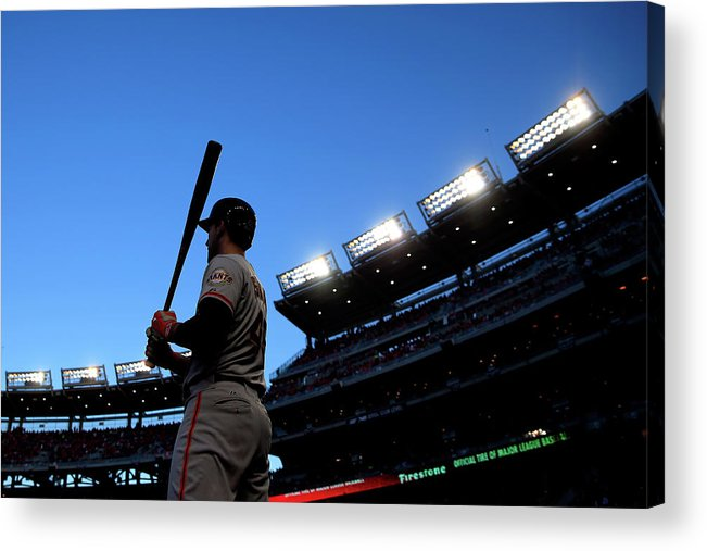 Travis Ishikawa Acrylic Print featuring the photograph Travis Ishikawa by Rob Carr