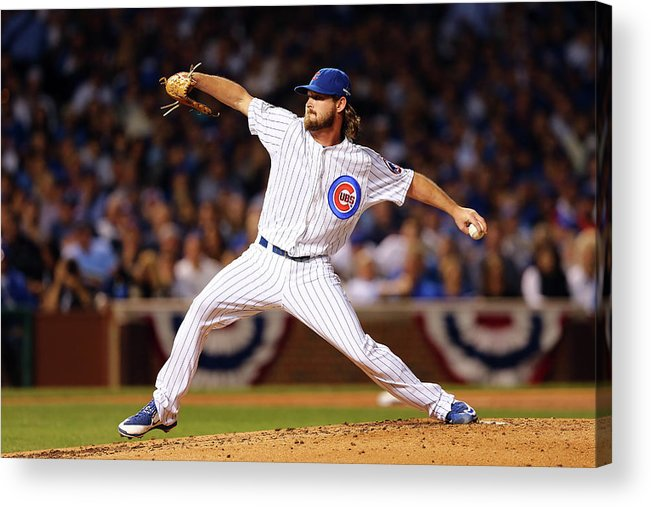 Second Inning Acrylic Print featuring the photograph Travis Wood by Elsa