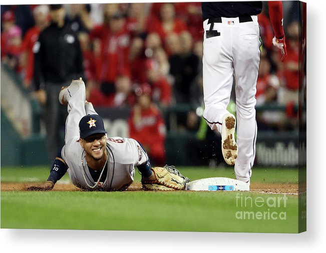 Yulieski Gourriel Acrylic Print featuring the photograph Trea Turner by Patrick Smith