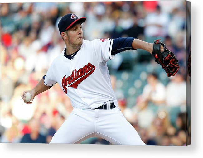 Three Quarter Length Acrylic Print featuring the photograph Trevor Bauer by David Maxwell