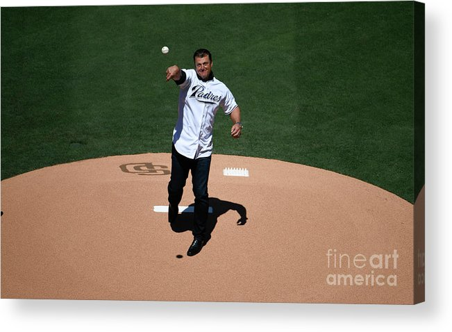 People Acrylic Print featuring the photograph Trevor Hoffman by Denis Poroy