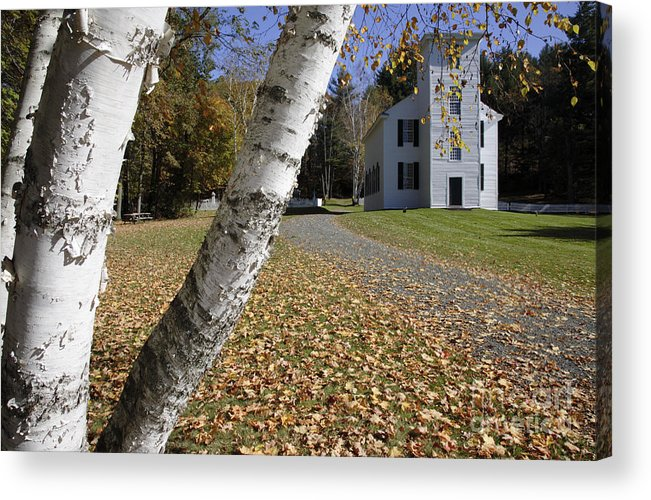 Meetinghouse Acrylic Print featuring the photograph Trinity Anglican Church - Cornish New Hampshire by Erin Paul Donovan