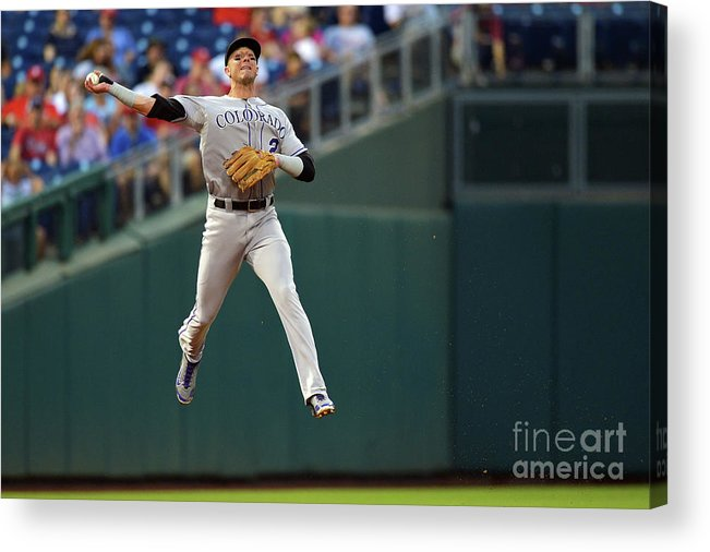 Second Inning Acrylic Print featuring the photograph Troy Tulowitzki by Drew Hallowell
